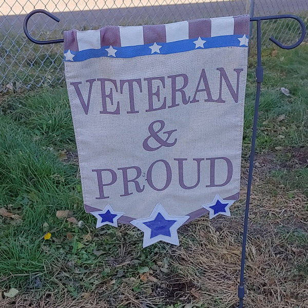Veteran and proud ground flag