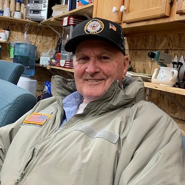 Volunteer Lester Gilroy